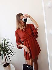 Женский шифоновый сарафан с рюшами  , фото 2