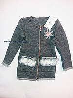 Детская вязаная кофта на девочку(104-110-116)