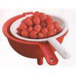 Двойной дуршлаг Tupperware для мытья и обсушивания салатов, зелени, овощей и фруктов.