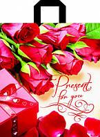 Пакет петля 40*43 Розы