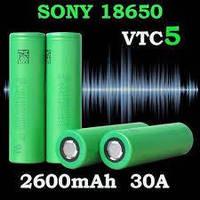 Аккумуляторы высокотоковые  Sony US18650VTC5 2600mah / 35А, фото 1
