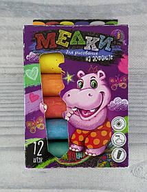 Мел цветной 12 цв. Толстый MEL-01-06 Danko-Toys Украина