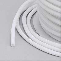 Шнур Резиновый Синтетический полый, Цвет: Белый, Размер: Толщина 2мм, Отверстие около 1мм, около 50м/катушка, (УТ100015054)