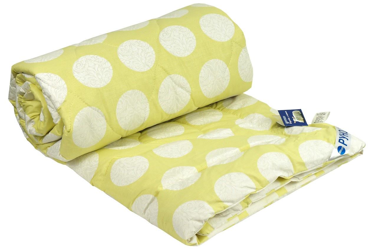 Одеяло шерстяное Руно салатовое летнее 172х205 двуспальное