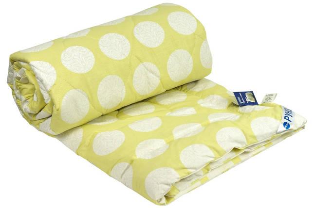 Одеяло шерстяное Руно салатовое летнее 172х205 двуспальное, фото 2