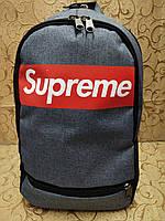 Рюкзак спортивный в стиле Supreme серый