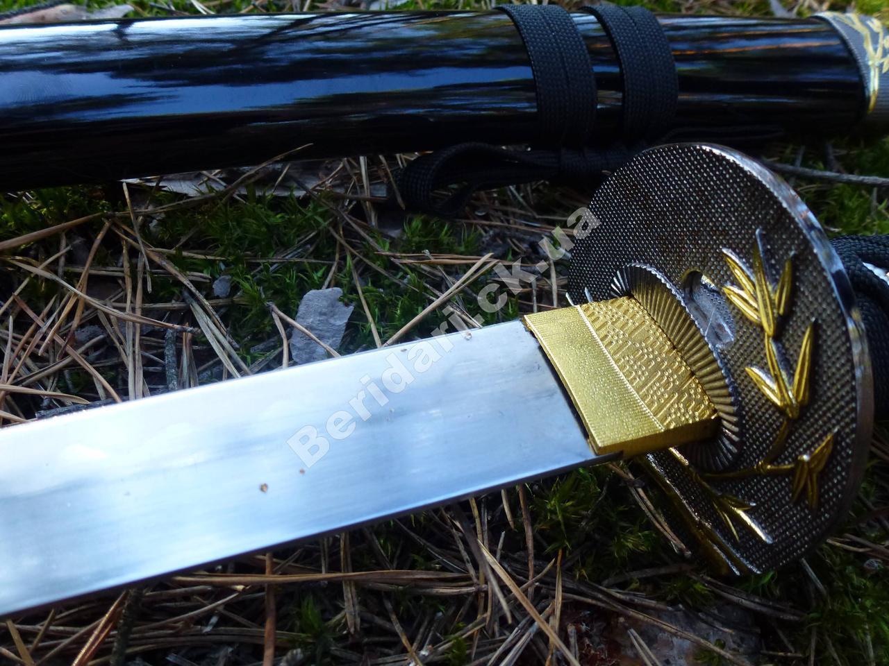 """Самурайский меч катана сувенирная на подставке   """"сакура  """" 74 см"""