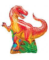 """Шар фольгированный фигурный """"Динозавр красный"""" Размер:85см*75см."""
