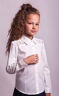 Блузка Свит блуз мод. 8021 в молочном цвете р.140, фото 1