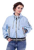 Женская ветровка куртка В-949 Лаке Тон 11 голубой