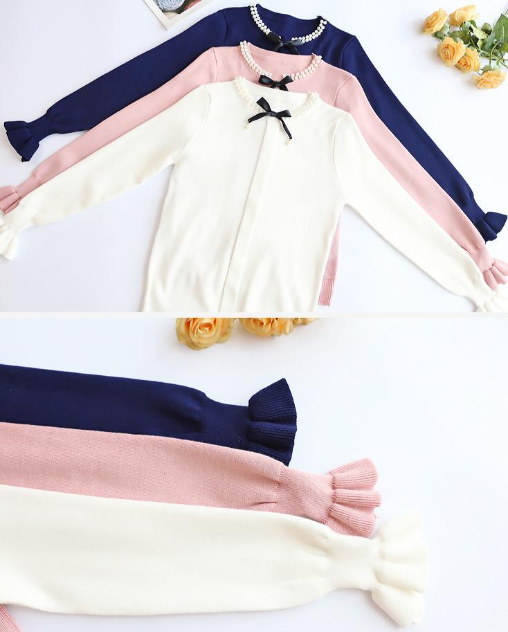 Женский пуловер с длинным рукавом 44-46 (в расцветках)