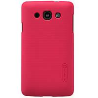 Чехол Nillkin для LG L60 Dual X135 красный (+пленка)