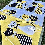 Пляжний рушник | Банний рушник | Двостороннє рушник | Натуральна | Бавовна 100%. Розмір 140*75см., фото 4