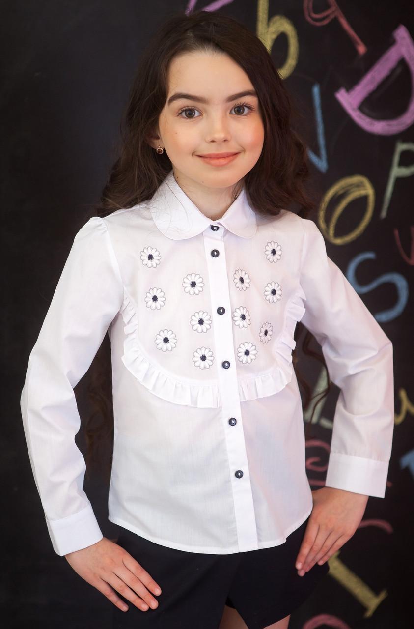 Блузка Свит блуз мод. 5075д с вышитыми ромашками р.152