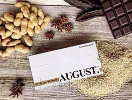 Шоколад ручної роботи з кунжутом і арахісом AUGUST
