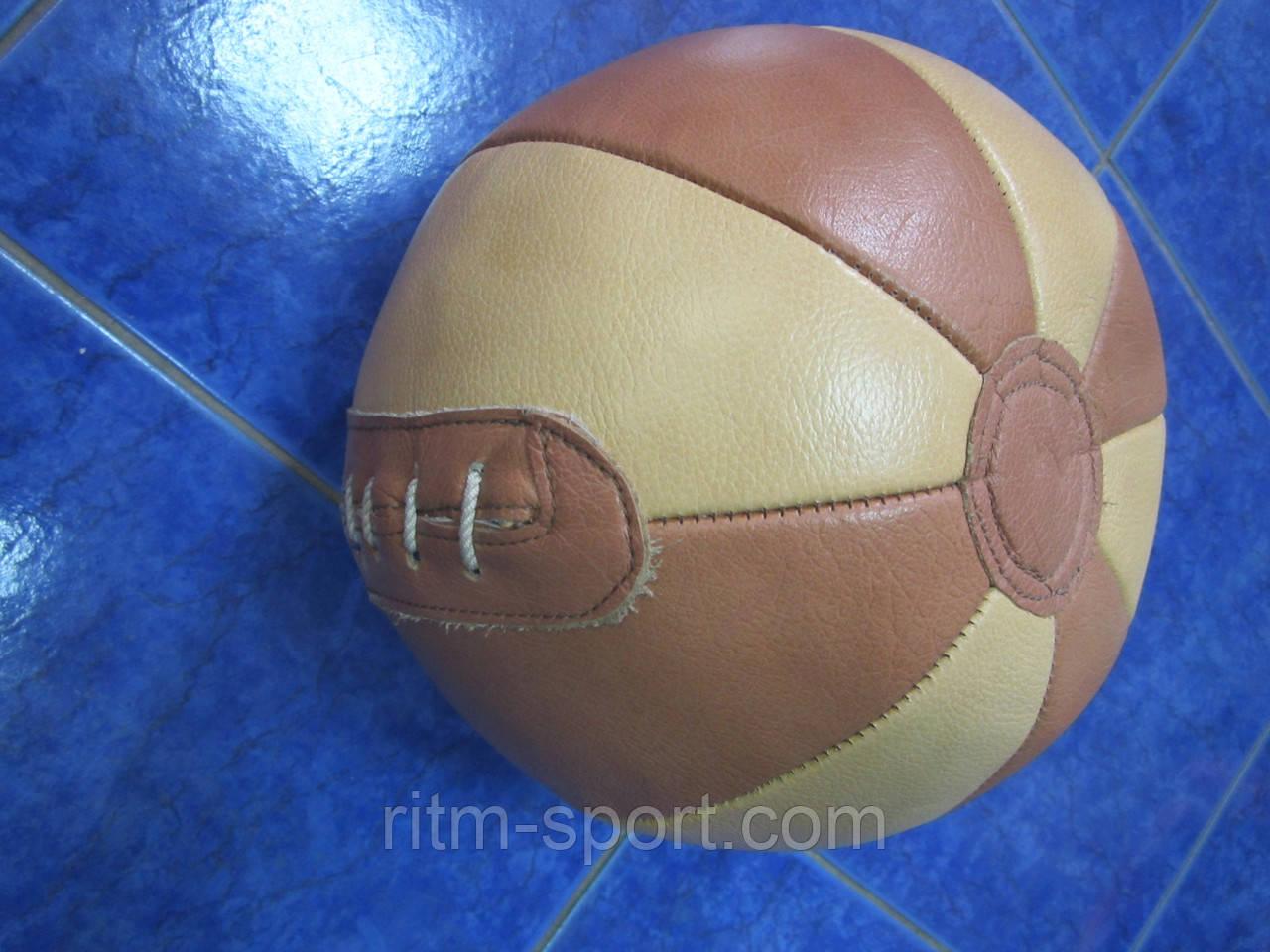 Мяч медицинский кожаный, вес  2 кг