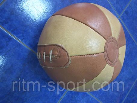 Мяч медицинский кожаный, вес  2 кг, фото 2