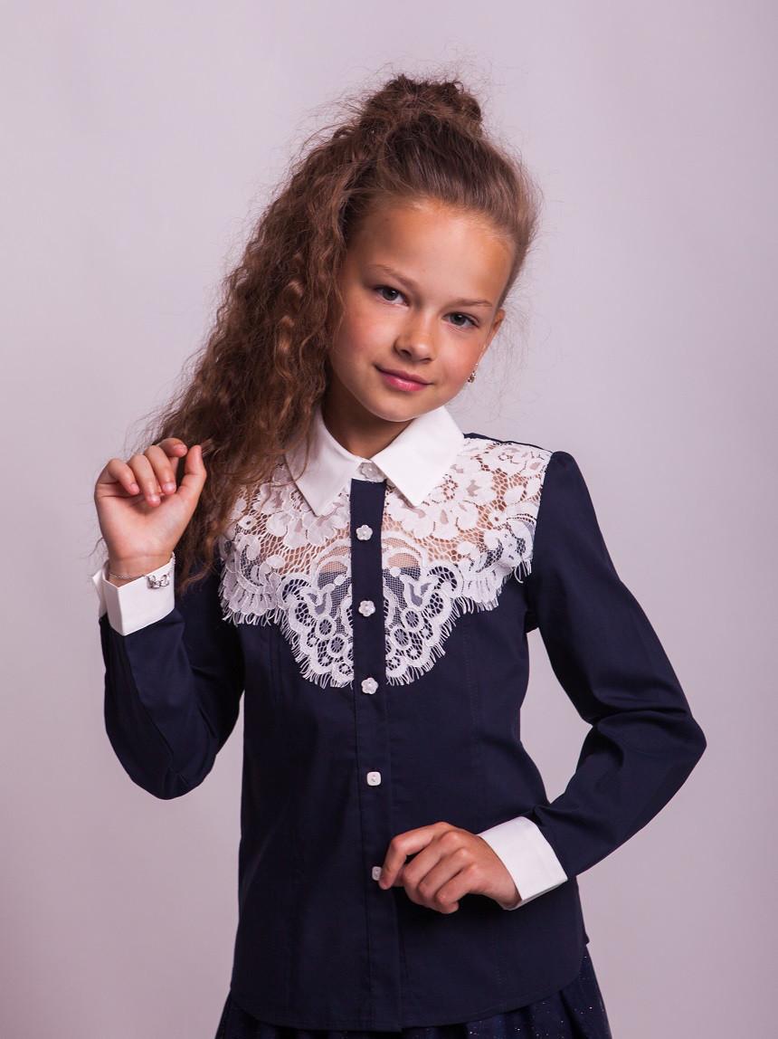 Блузка Свит блуз мод. 8018 синий р.152