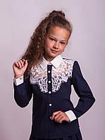 Блузка Свит блуз мод. 8018 синий р.152, фото 1