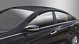 Дефлекторы окон (ветровики) Hyundai Sonata YF 2010-2014  (Autoclover A117), фото 3
