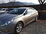 Дефлекторы окон (ветровики) Hyundai Sonata YF 2010-2014  (Autoclover A117), фото 8