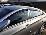 Дефлекторы окон (ветровики) Hyundai Sonata YF 2010-2014  (Autoclover A117), фото 10