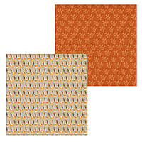4 Лист двусторонней бумаги для скрапбукинга, коллекция Хорошая погода 30х30 см.