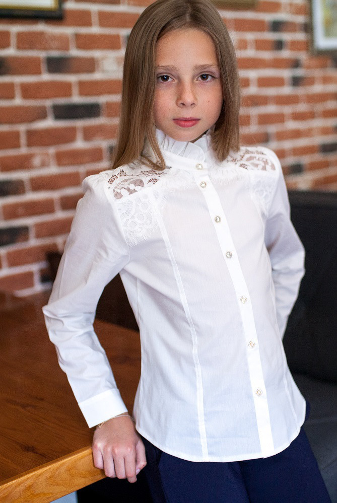 Блузка Свит блуз мод.  8022 молочная р.128