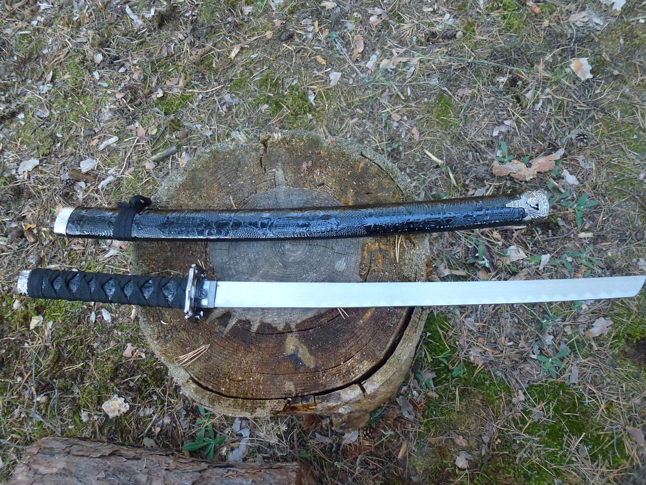"""Самурайский нож   катана сувенирный  """"black dragon """"79см+ Подставка"""