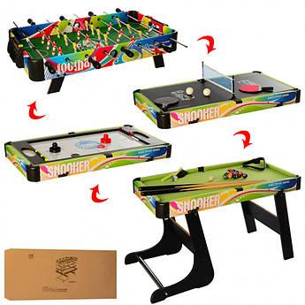 Набор настольных игр 4в1 (футбол, пинг понг, аэрохоккей и бильярд) C6008-4