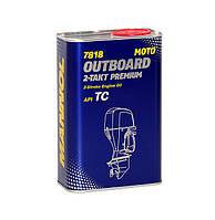 Синтетична олива для двотактних підвісних човнових двигунів MANNOL Outboard 2-Takt Premium API TC 1л.