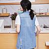 Удлиненная женская джинсовая жилетка (44-48), фото 7