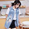Удлиненная женская джинсовая жилетка (44-48), фото 2