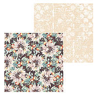 3 Лист двусторонней бумаги для скрапбукинга, коллекция Сны листопада 30х30 см.