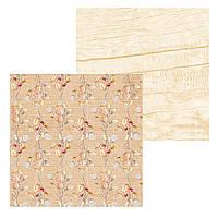 2 Лист двусторонней бумаги для скрапбукинга, коллекция Сны листопада 30х30 см.