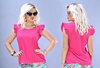 Летняя шифоновая блузка больших размеров
