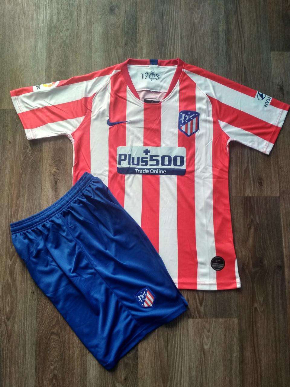 Футбольная форма Атлетико Мадрид/Atlético de Madrid ( Испания, Примера ), домашняя, сезон 2019-2020