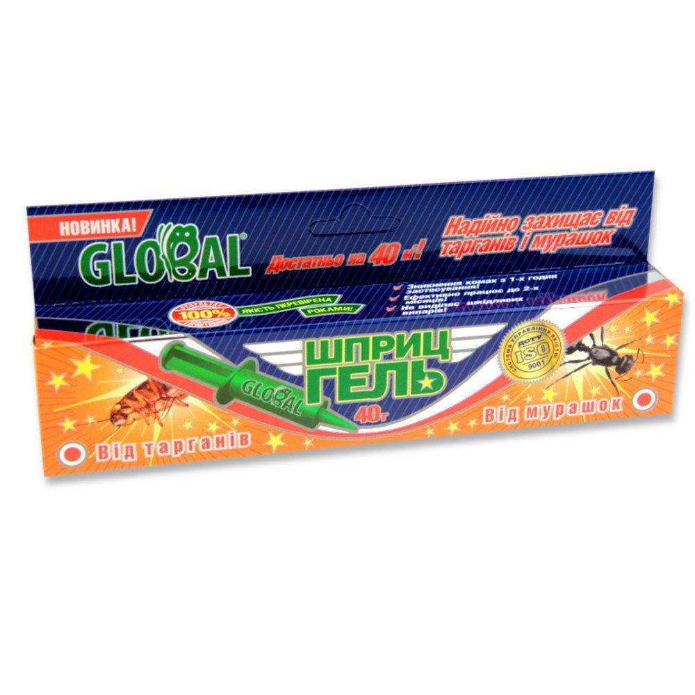 Гель шприц от тараканов 40 мл Global