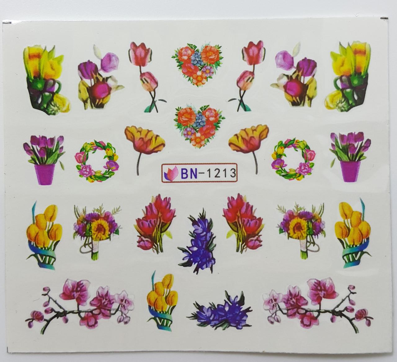 Наклейка для нігтів BN-1213