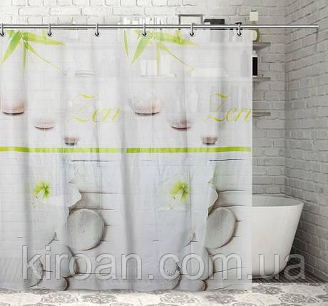 Штора/занавеска для душа виниловая 180х180 (7256) Бамбук, фото 2