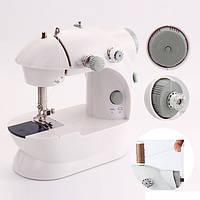 Мини швейная машинка 4в1 FHSM 201 с адаптером. Mini sewing machine