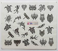 Наклейка для ногтей BN-1231