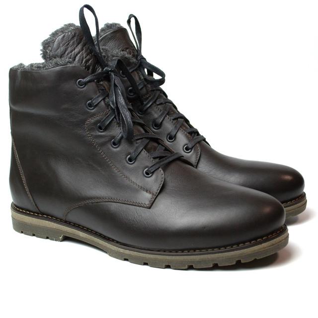 Ботинки зимние коричневые кожаные мужские Rosso Avangard Night Whisper Brown