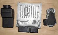 Блок управления двигателем 111-115 CDI + замок зажигания + ключ зажигания + блокиратор руля на Mercedes-Benz V