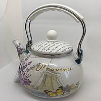 Эмалированный чайник  Hoffner 4935 Provense 2,5 литра c бакелит ручкой, фото 1