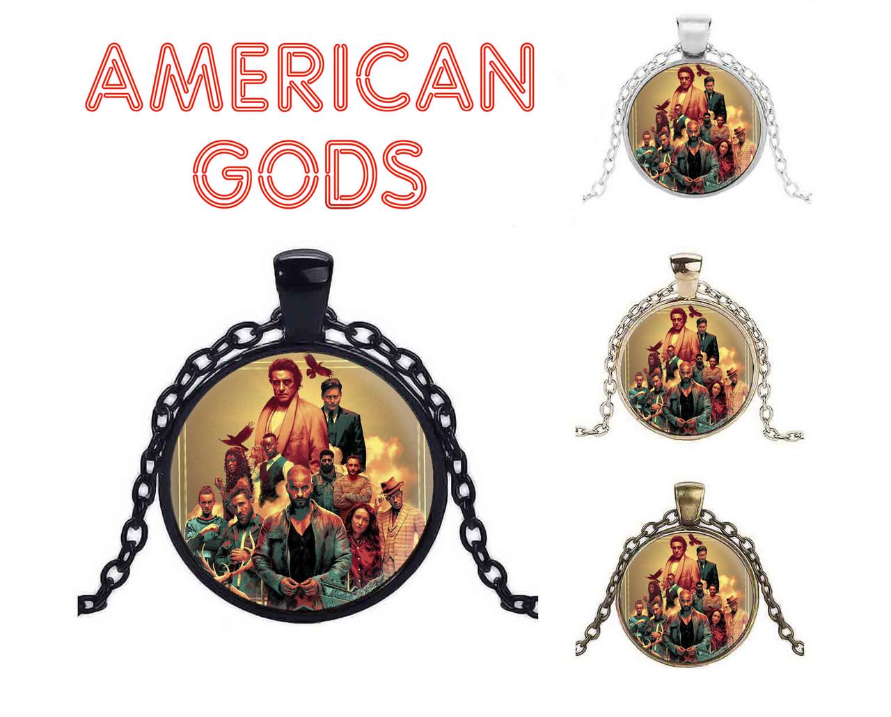 Кулон Американские боги / American Gods с персонажами
