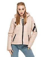 Женская короткая куртка с горизонтальной стежкой Дана