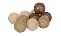 Гирлянды Cotton Balls Fame Тайские Шарики 10led, диам 6см, длина 180см на батарейках АА , фото 1