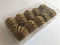 Гирлянда Decorino Dark Gold Paper Balls 10led, диам 7.5см, длина 235см на батарейках АА