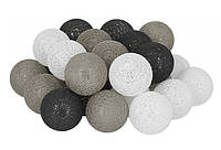 Гирлянда Тайские Шарики LTL Vinsente Cotton Balls 30led, диам 6см, длина 540см на батарейках АА